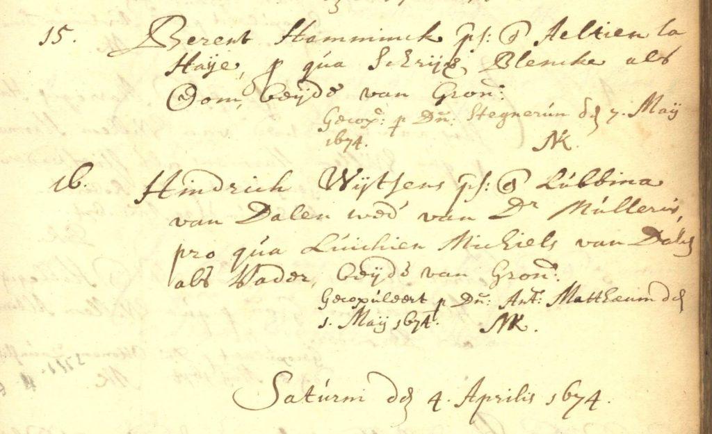 Berent Hamminck en Aaltien La Haye
