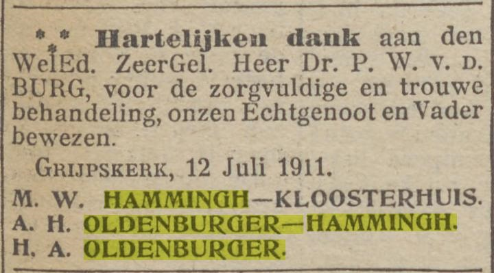 Abelina Henderika Hammingh 1911
