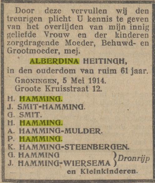 Alberdina Elizabeth Hamming Heitingh