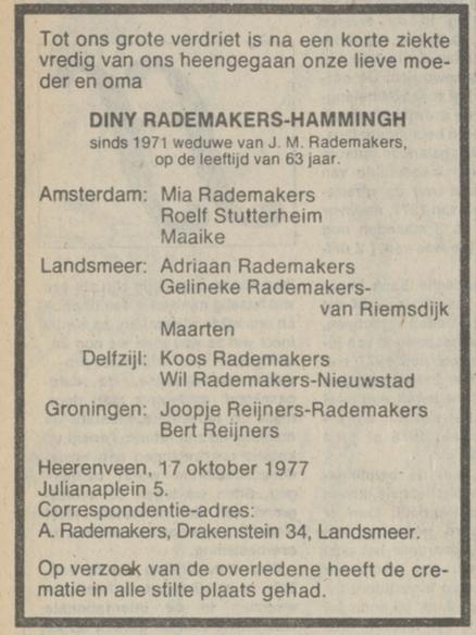 Dina Hendrika Rademaker-Hammingh