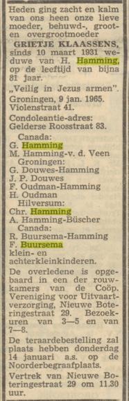 Grietje Klaassens Hamming