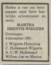 Martina Bernarda Wiegers 1981