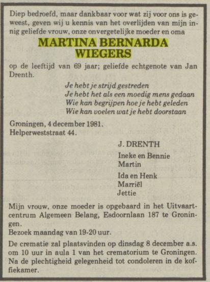 Martina Bernarda Wiegers