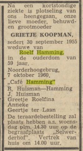 Roelf Hamming en Grietje Koopman