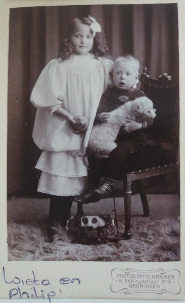 Wieta en Philip Hammingh kinderen van Markus Frederik Hammingh, kindern van Markus Frederik Hammingh