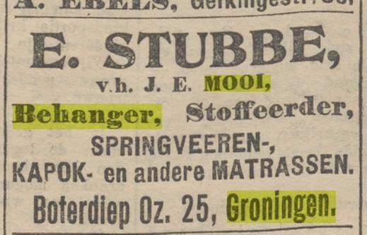 J.E. Mooi echtgenoot Jantje Hamming krant 09-03-1906