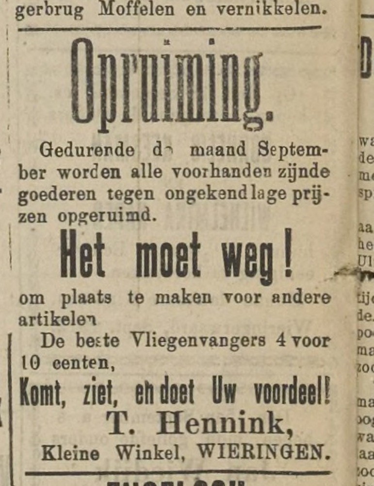 Trijntje Hennink en haar Kleine Winkel op Wieringen (1912).