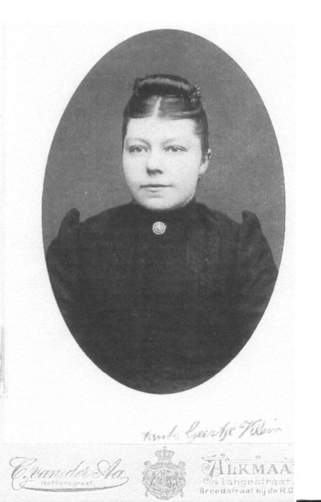 Geertje Klein, geboren Stroe, overleden bij brand boerderij.