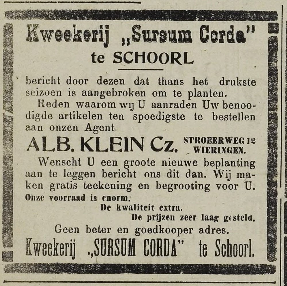Wieringer Courant februari 1926.