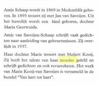 Antje Schaap getrouwd met Jan van Savoijen